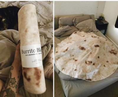 A blanket that looks exactly like a burrito (direct product link)