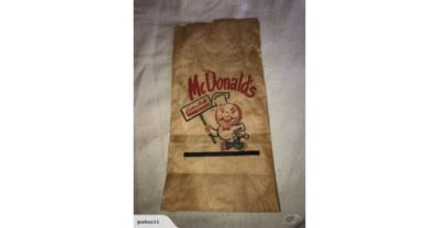 1955 First McDonald's Paper Bag