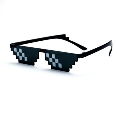 """Deal With It"" Pixelated Sunglasses"