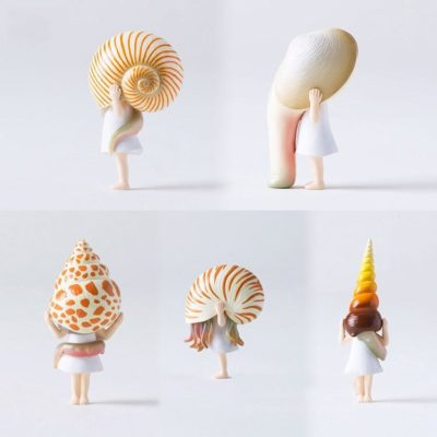 Japanese Kawaii Snail Shell Girl Figurine