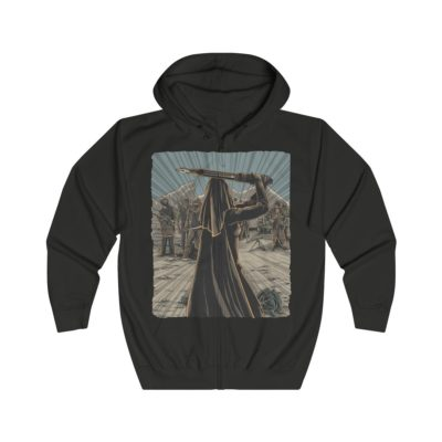 The Pen is Mightier Than the Sword – Unisex Full Zip Hoodie