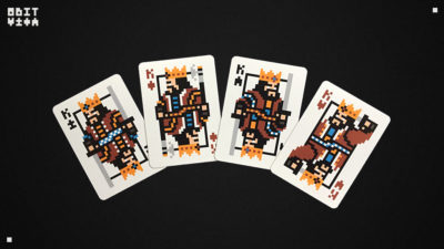 The 8Bit Deck – A custom playing card deck featuring pixel art and printed by the USPCC