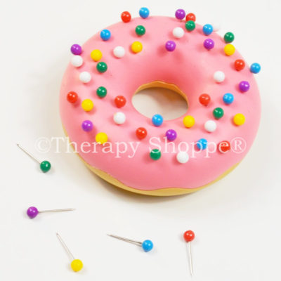 This donut-shaped pin cushion