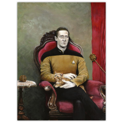 "CBS approved reprinting of my ""Ode to Spot"" (ST TNG Data) painting – US only (Canada/Germany in Jan[?])"