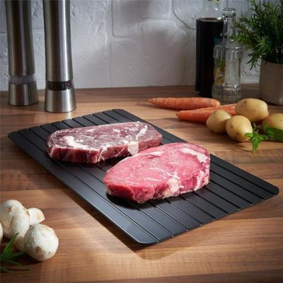 A tray that thaws food up to 6x faster than just leaving it on the counter