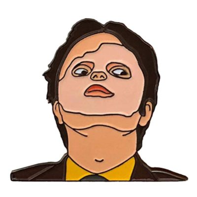 Dwight Schrute mask scene pin