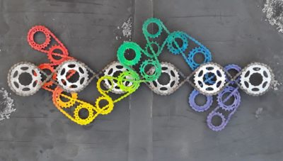 Bicycle Chain Infinity Cube