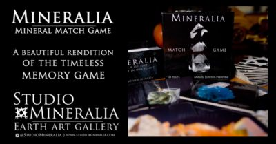Share your Rock & Mineral fascination with this exceptional rendition of the time-tested Memory Match game. Suitable for adults and kids, features macro images of unique and aesthetic mineral specimens from around the world.