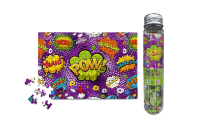 MicroPuzzles – Kill Your Boredom… POW! – A 150 piece mini jigsaw puzzle – fun, challenging but not overwhelming.