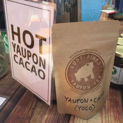 Yoco! (Yaupon + cacao). Caffeine and Theobromine gives a smooth energy boost without the jitters or acidity of coffee.