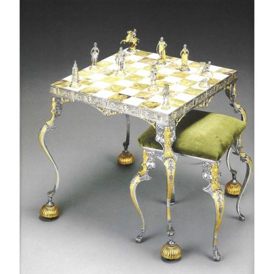 this onyx chess table