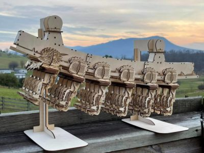 Laser-Cut Roller Coaster Train!