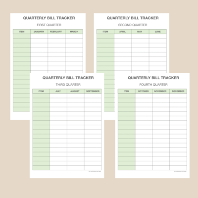 All-in-one Financial Planner and Printable Bundle || 15 products, 51 pages A4, Letter