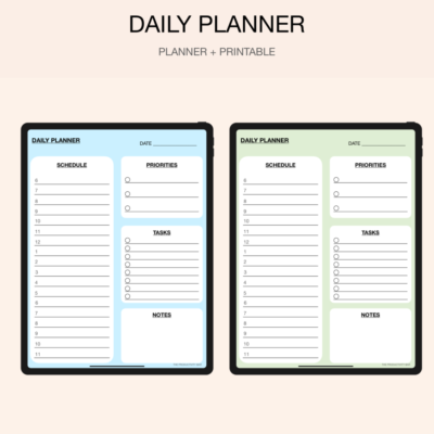 31 pages daily planners