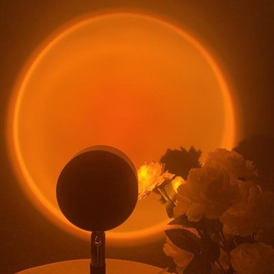 Sunrise lamp adds a orange glowing sun to your bedroom